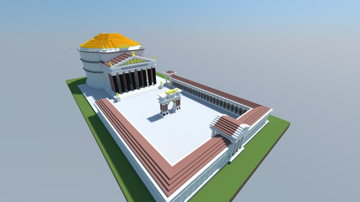 overview of the pantheon as it was intended to be and its forcourt