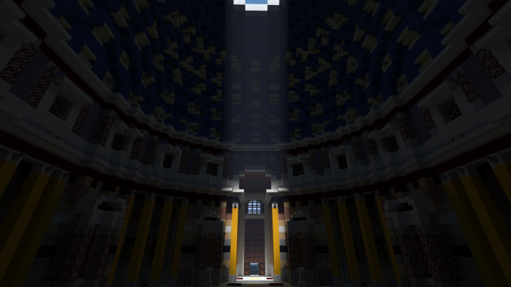 view showing the main door, and most of all the 140 coffers in the dome that actualy are all indented