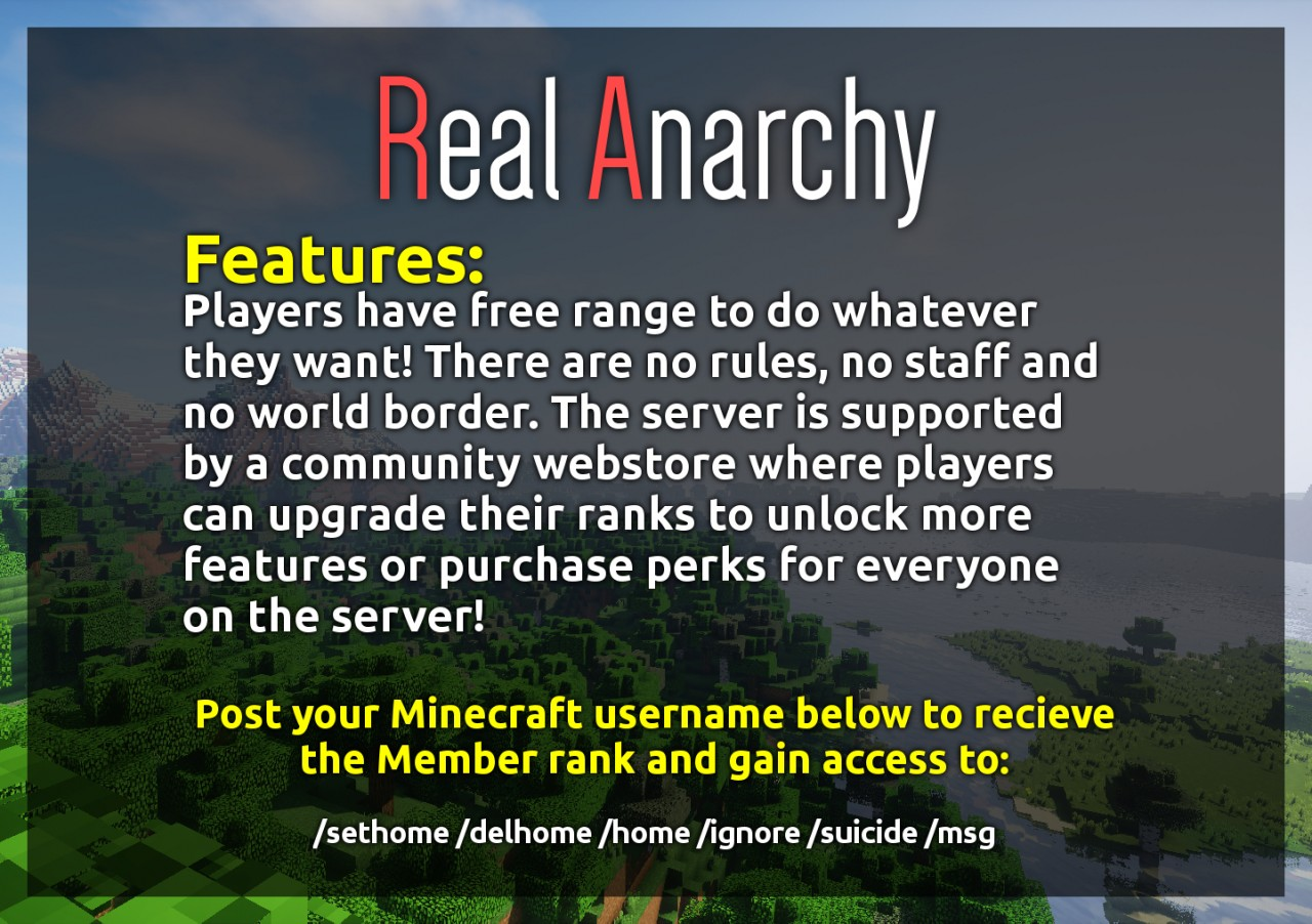 Realanarchy Realanarchynet Minecraft Server
