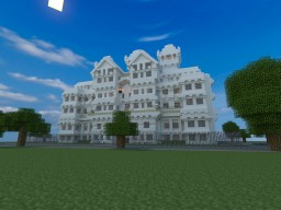 The Mansion of Quartz - Behind The Picket Fence Minecraft Map & Project