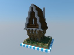 Rural - 1x1 Chunk Rustic House Minecraft Project