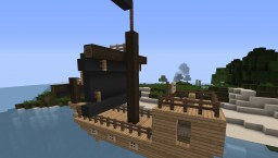 Simple Pirate Ship Minecraft Project