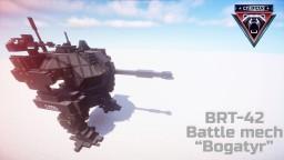 """BRT-42 Battle Mech """"Bogatyr"""" Minecraft Project"""
