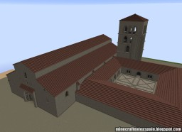 Replica Minecraft of the former Romanesque Cathedral of Burgos, Spain. Minecraft