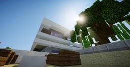 Modern Beach House - Behind the Picket Fence Minecraft