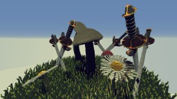 Giant mushrooms surrounded by swords Minecraft Map & Project