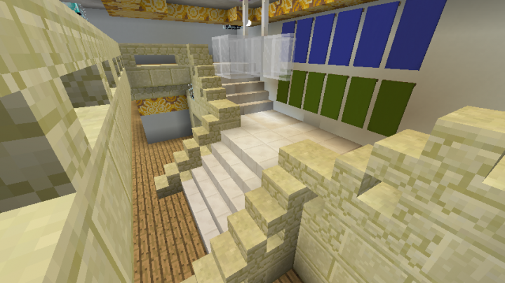 The main stairs.