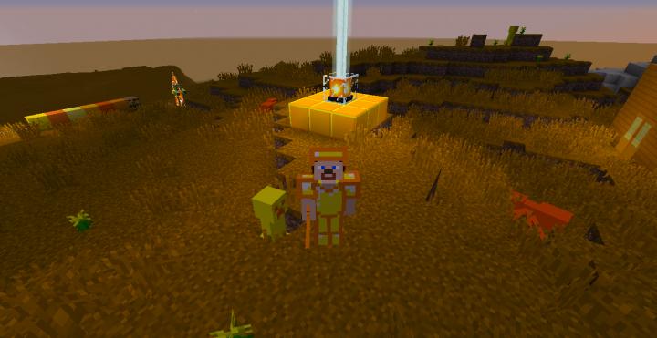 Golden armor  a creeper