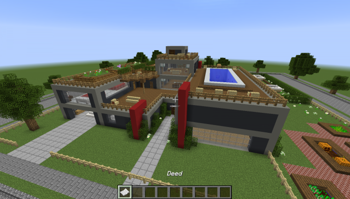 minecraft modern fence designs. View From Sky Minecraft Modern Fence Designs