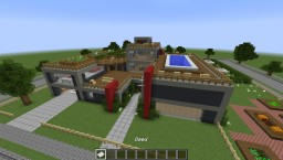 Modern House - Behind the White Picket Fence Minecraft Project