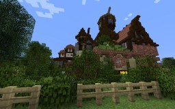 One Mess of a House - Cheesecake Manor - Behind the Picket Fence Contest entry Minecraft Project