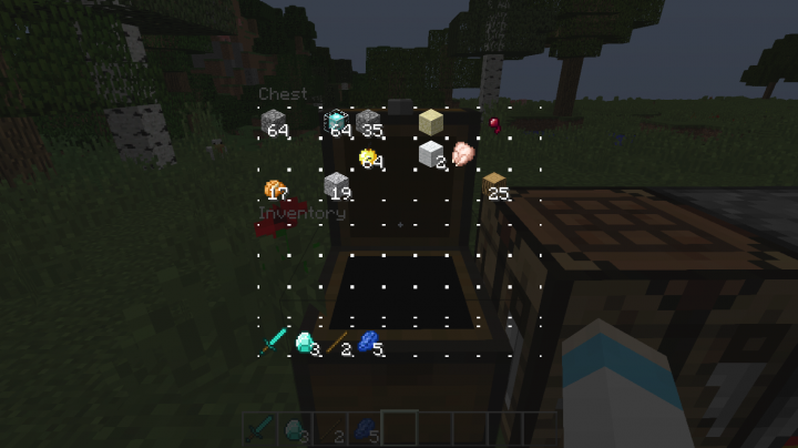 Chest with items