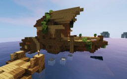 River HouseBoat // Survival Build Minecraft Map & Project