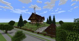 Shulkerhof-Alpine Style House - Behind The Picket Fence Contest Minecraft Project