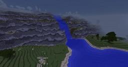 Waterfall cliffs Minecraft Project
