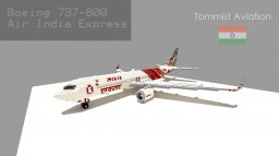 Boeing 737-8GH Air India Express [Indian Aviation EP] [+Schematic] Minecraft Map & Project