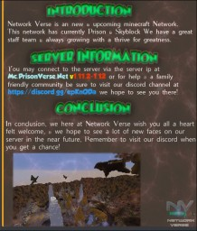 NetworkVerse // OP Prison // Skyblock Minecraft Server