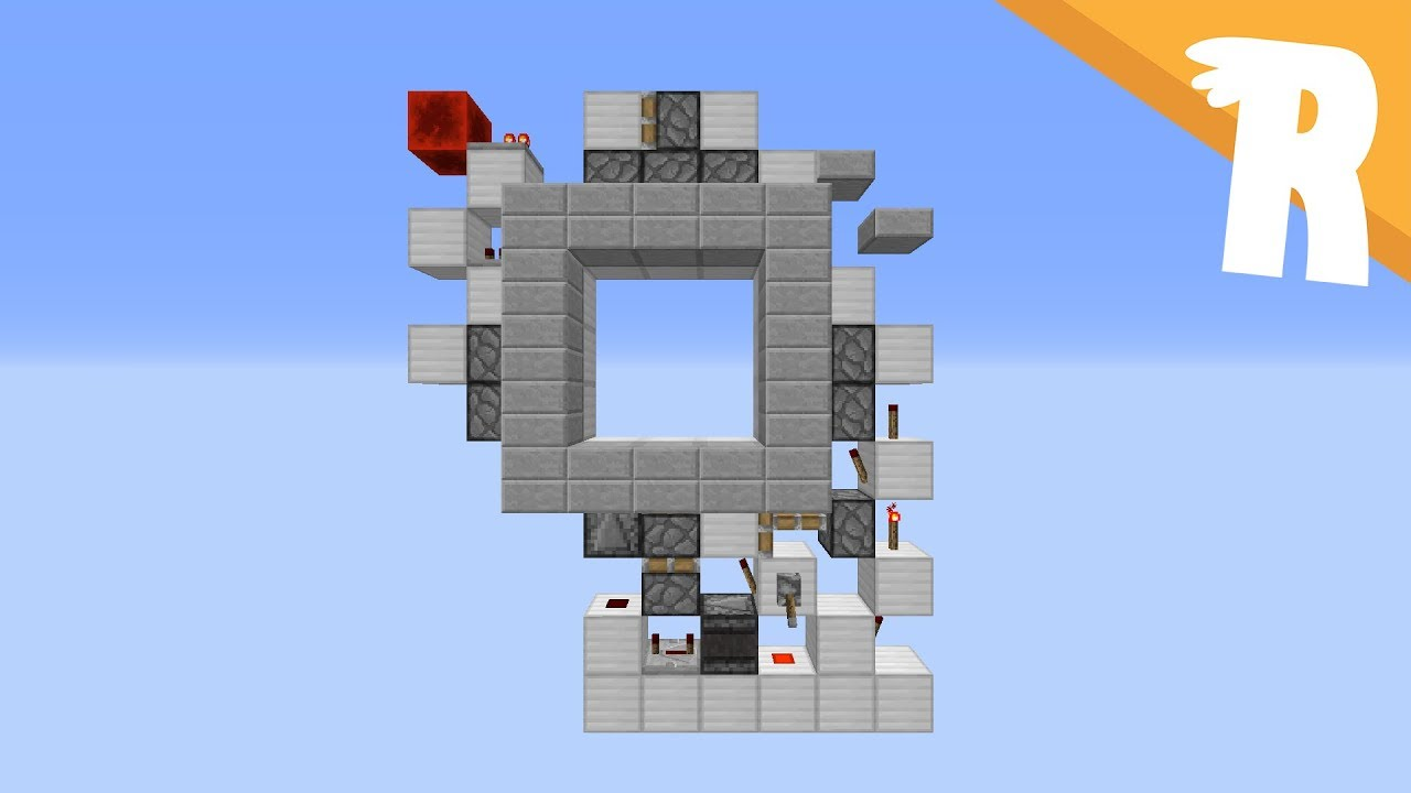 1 Wide 3x3 Piston Door!  sc 1 st  Planet Minecraft & 1 Wide 3x3 Piston Door! Minecraft Project