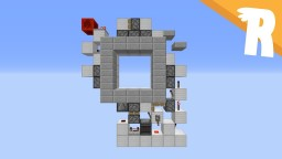 1 Wide 3x3 Piston Door! Minecraft Project