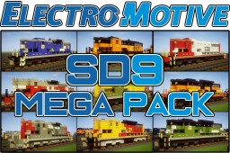 [1.5:1 Scale] EMD SD9 Mega pack - 36 locomotives, BN, D&RGW, CB&Q, CNW, SP, B&O... Minecraft Map & Project