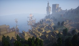 Viking Harbor Village w/ Castle [Conquest Reforged] Minecraft Project