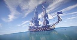 Soleil Royal | French Man O' War (ShipSide) Minecraft