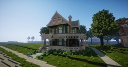 Green Queen Anne Victorian House Minecraft Map & Project
