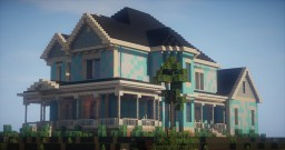 victorian house  -suburban/victorian style Minecraft