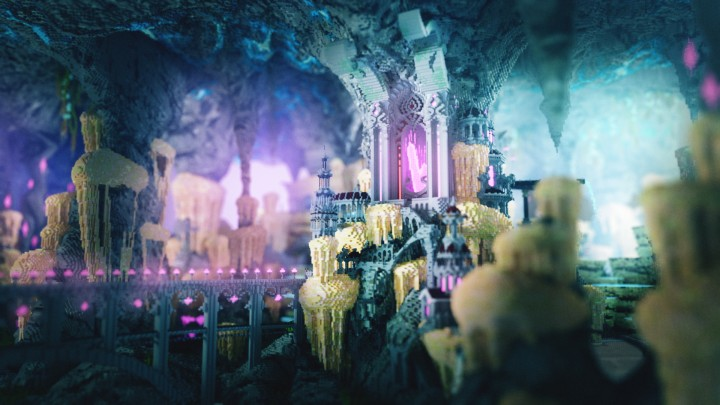 The front side of the citadel in a fairytale atmosphere. Render by Splekh