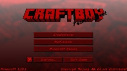 The next big retro pack: Craftboy Virtual! Minecraft Texture Pack