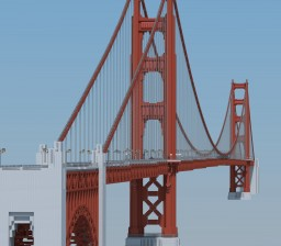 Golden Gate Bridge 1:1, San Francisco Minecraft Map & Project