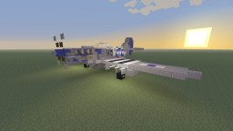 "WWII U.S North American P-51D Mustang ""Cripes A' Mighty 3rd"" fighter plane Minecraft"