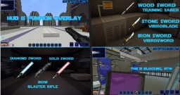 Star Wars Knights Of The Old Republic -KoTOR: New update:  Added lightsaber colors via CIT + Blasters Minecraft Texture Pack