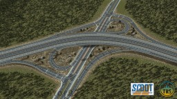 CA-52 & Harris Avenue Partial Cloverleaf Interchange | SC | TRS Minecraft Project