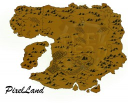The map of PixelLand - 10.000x10.000 Minecraft Project