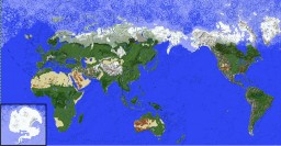 Complete Earth Map With Custom Ore Generation and Accurate Biomes Minecraft Project