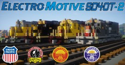 [1.5:1 Scale] EMD SD40T-2 - D&RGW, SP and UP diesel electric locomotives Minecraft Project