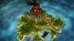 TeikoNetwork Commission: Tropical-Volcanic Hub Minecraft Map & Project