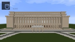 Victoria Palace | Bucharest, Romania   +extension project Minecraft Map & Project