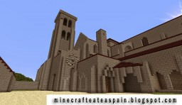Replica of the Monastery of the Huelgas of Burgos, Spain. Minecraft Map & Project