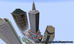 Replica Minecraft of the Latin American Tower of Mexico D.F. in Mexico. Minecraft Map & Project