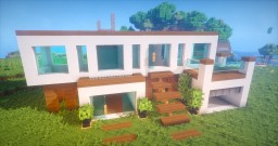 MODERN HOUSE WITH OFFICE AND GARAGE Minecraft Map & Project