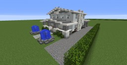 Modern American Craftsman Style House Minecraft Project