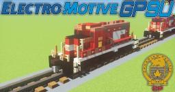 [1.5:1 Scale] Rebuilt EMD GP9u - CP Canadian Pacific diesel electric locomotive Minecraft Map & Project