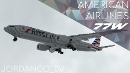 American Airlines Boeing 777-300ER (77W) | 1.5:1 Minecraft Map & Project