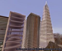 Reconstruction Pyramid Transamerica, San Francisco, USA Minecraft Project
