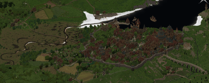 A full view of the project on our dynmap
