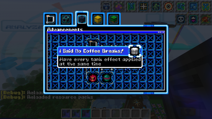 EVERYTHING has been modified blocks, advancements, death messages and more save for some sound effects