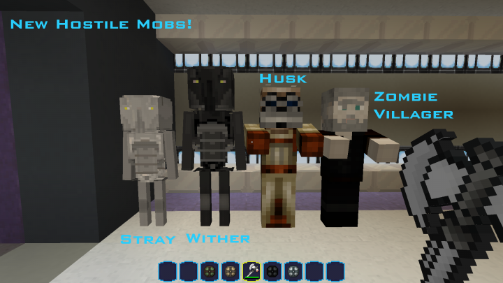 All Zombie Villagers have there skins and also have some random mob versions meaning Sith Bastila can wear a hood some times.