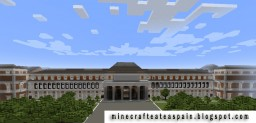 Replica Minecraft of the National Prado Museum, Madrid, Spain. Minecraft Project